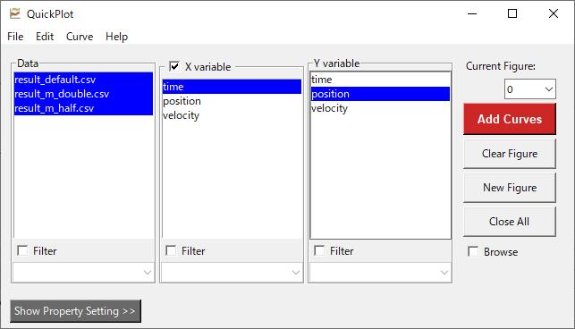 QuickPlotのメインGUI
